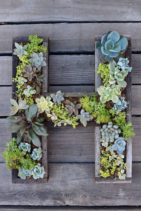 DIY bloembak muur - houseandfig.com