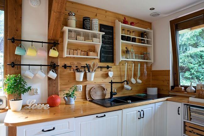 Romantische landelijke keuken
