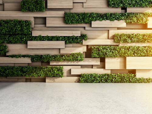 Geometrische moderne verticale tuin