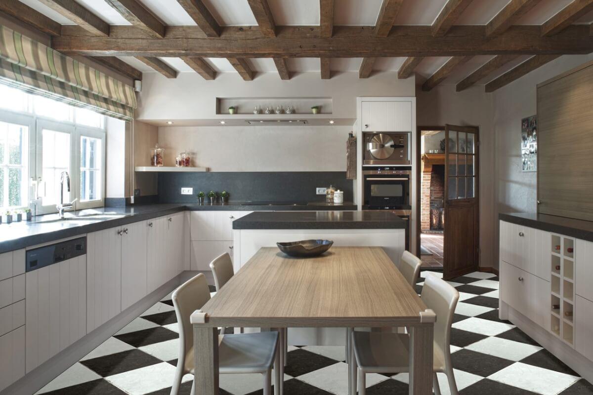 Modern Landelijke Woonkamer. Elegant Moderne Keuken With Modern ...