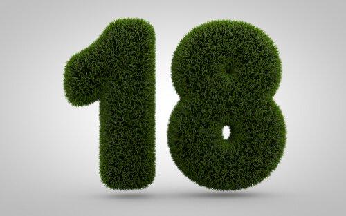 Huisnummer van mos of gras
