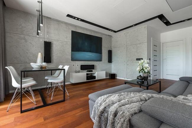 Beton met donkere vloer