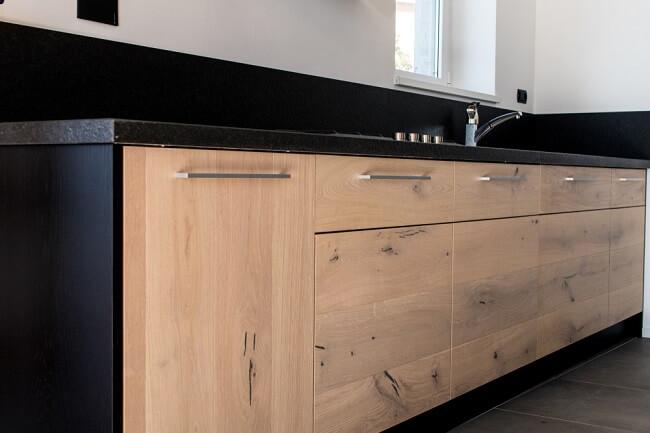 Beton met hout keuken