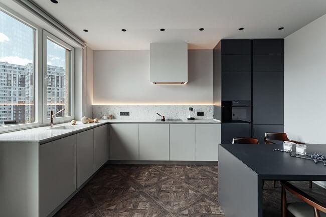 Donker en licht beton
