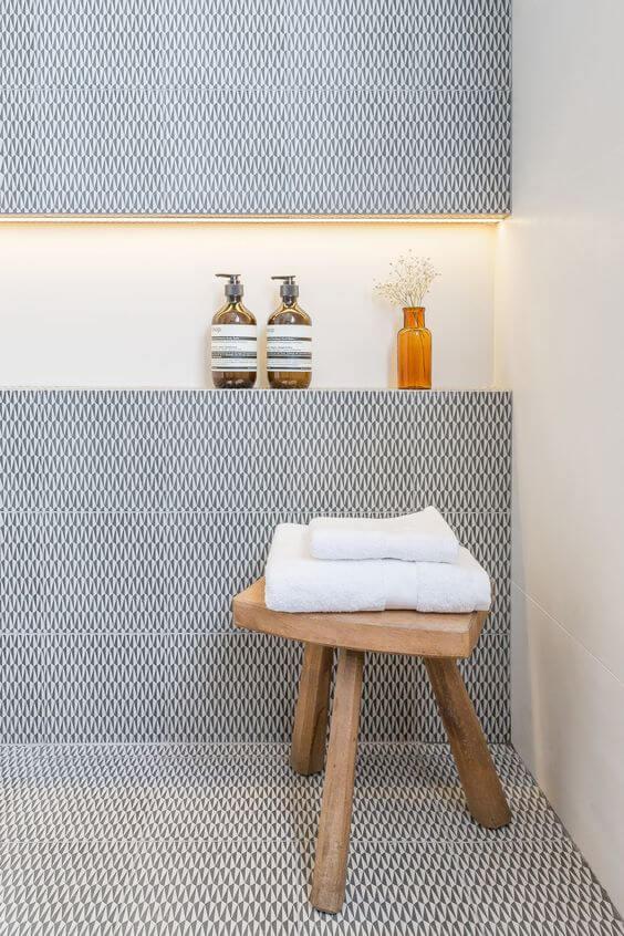 45 badkamer voorbeelden - Tegel patroon badkamer ...