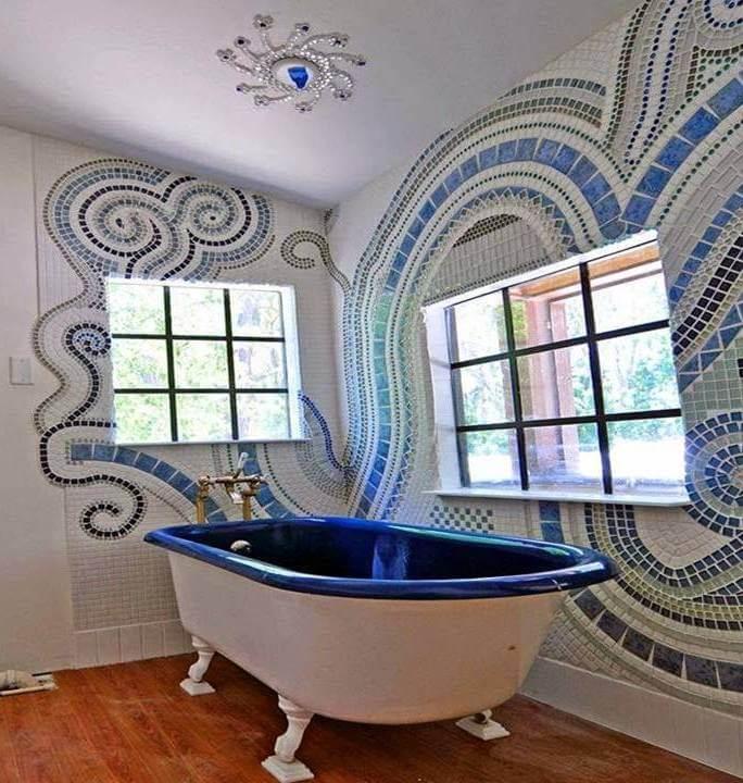 Glazen mozaiektegels