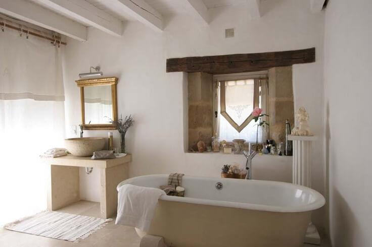 45 badkamer voorbeelden - Landelijke badkamer meubels ...
