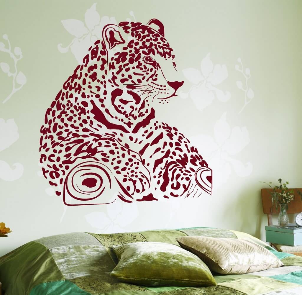 Luipaard muursticker - wallstickers4you.com