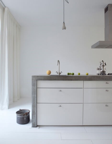 beton in moderne keuken