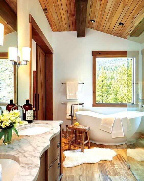 bijzondere scandinavische badkamer