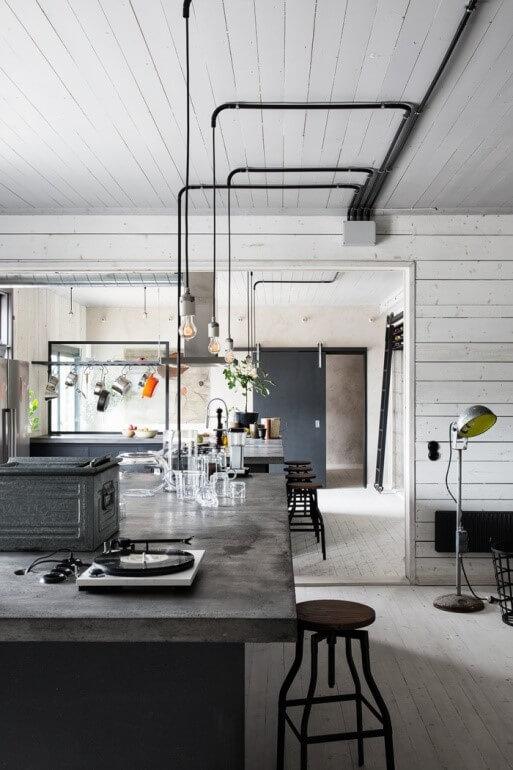 industriele betonlook keuken