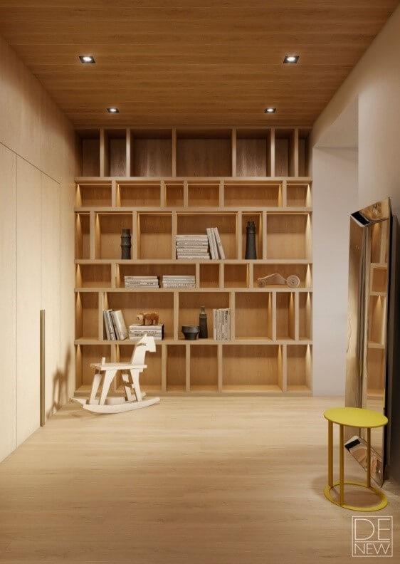 opbergruimte muur woonkamer