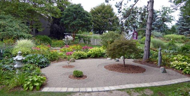 Beplanting in de Japanse tuin