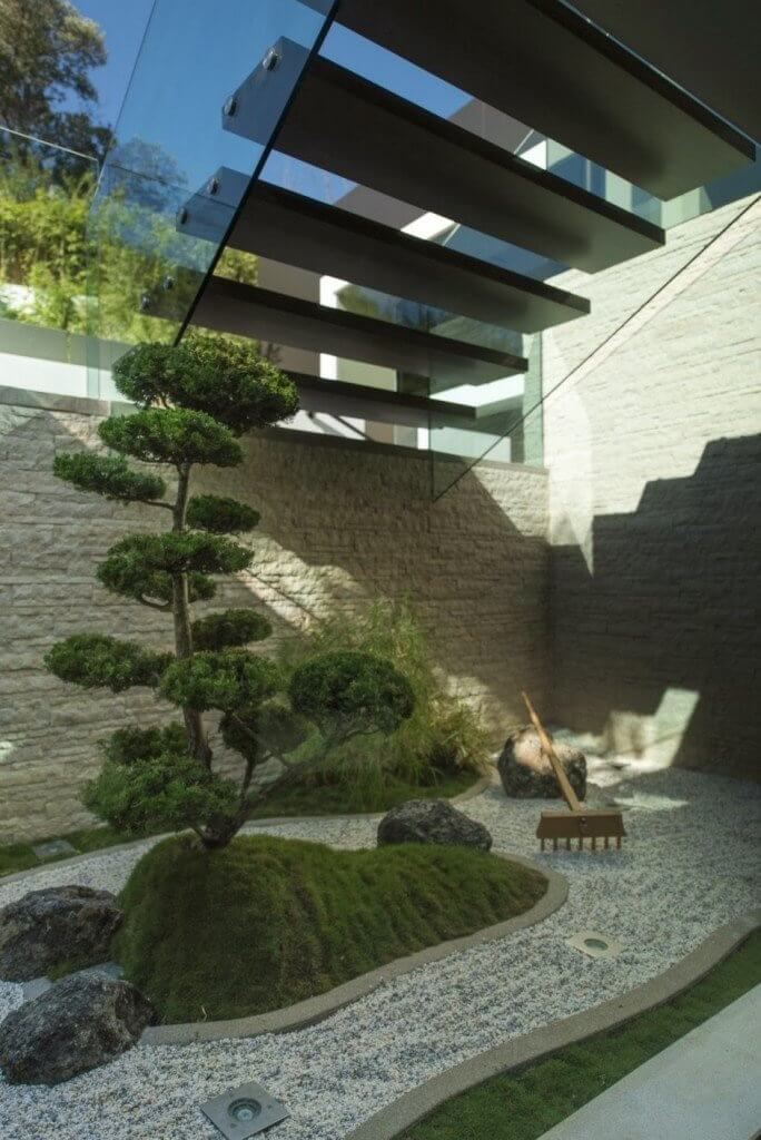 Mooie kleine Japanse Zen tuin