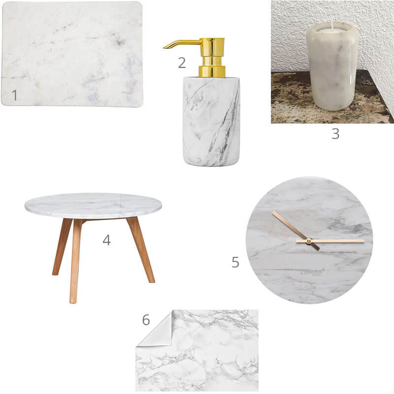 6 marmeren items voor jouw interieur