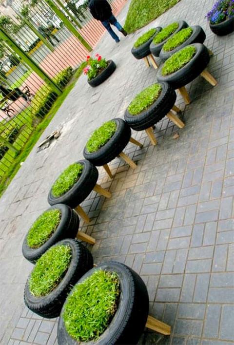 Autoband voor in jouw interieur: plantenbak