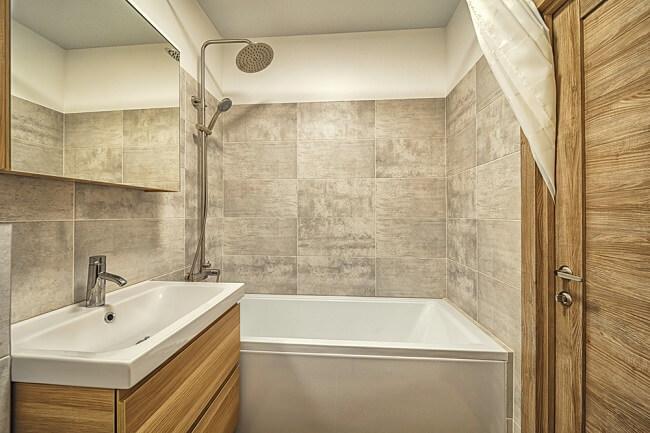 Bescheidenkleine Scandinavische badkamers