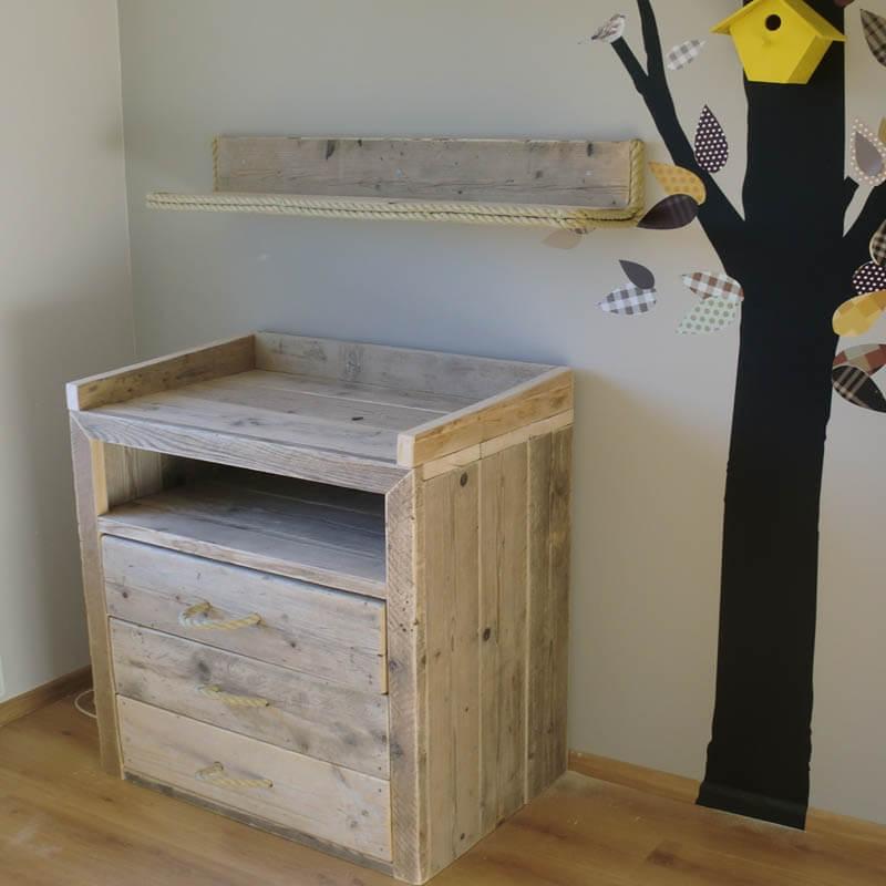 babykamer met steigerhout ~ lactate for ., Deco ideeën