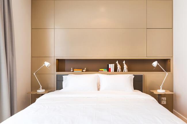 Gebruik alle ruimte in een kleine slaapkamer