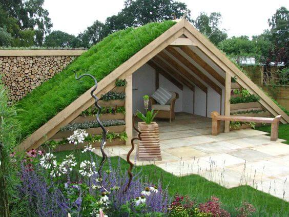 kunstgras-als-afdekking van een dakje