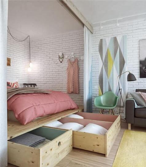 Extreem Kleine slaapkamer inrichten: 15 handige tips! | Ik woon fijn &LE73