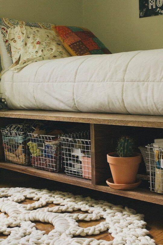 Opbergruimte onder het bed