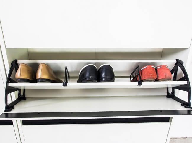 Schoenenkast als oplossing in een kleine slaapkamer