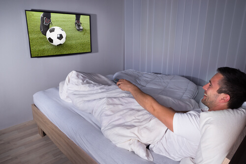 TV in kleine slaapkamer