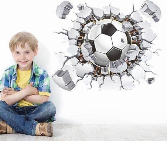 Muursticker van voetbal voor voetbal kinderkamer