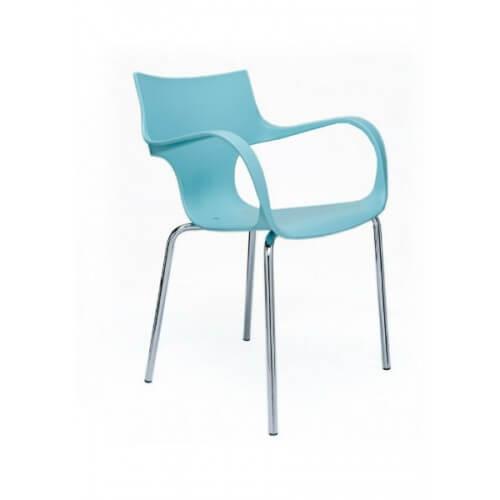 gekleurde kunststof fauteuil
