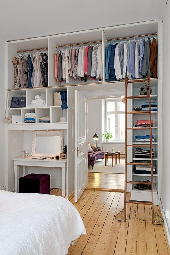 Zeer Kleine slaapkamer inrichten: 15 handige tips! | Ik woon fijn &BW41