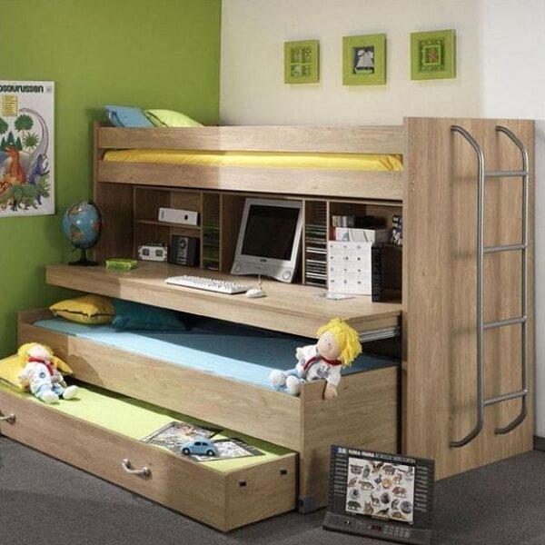 Hoogslaper met bureau 10 leuke voorbeelden ik woon fijn - Hoogslaper tiener met kantoor en opslag ...