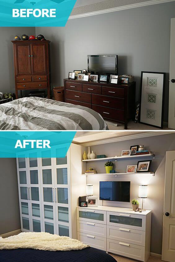 nieuwe inrichting kleine slaapkamer