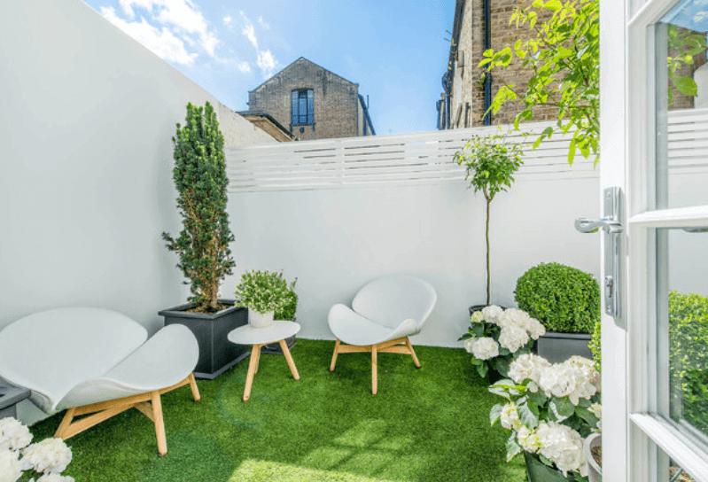 Overkapping Kleine Tuin : Strakke tuin ideeën ik woon fijn