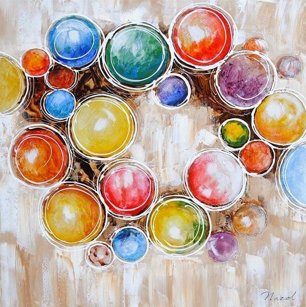 Abstracte kunst voor kinderkamer