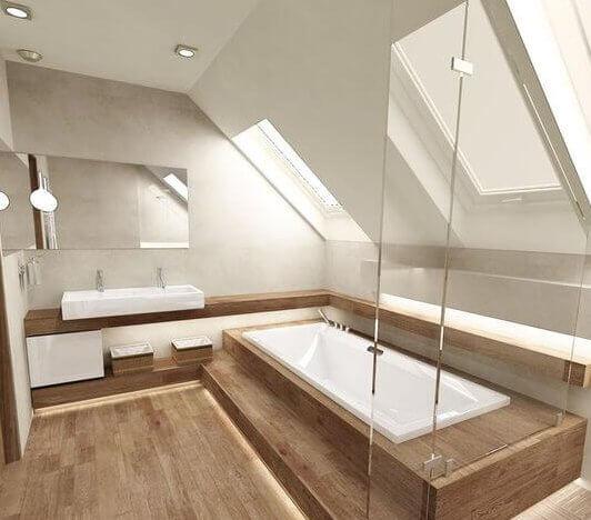 Badkamer met schuin dak 8 voorbeelden ter inspiratie ik for 3d ruimte ontwerpen