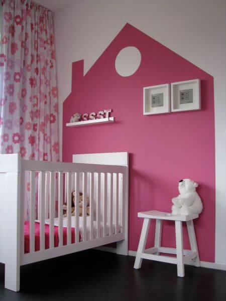 Muur ideeen kinderkamer roze aankleding woonkamer beste inspiratie interieur design en - Deco originele muur ...