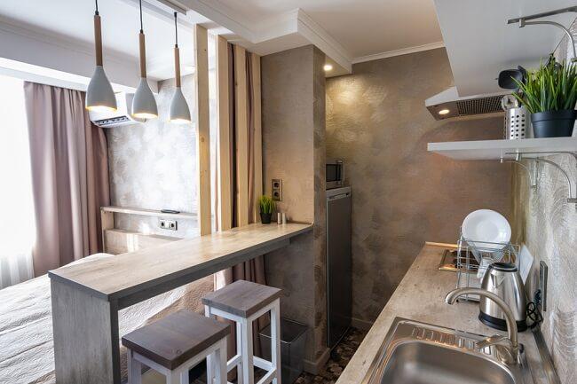 Industriële kleine keuken