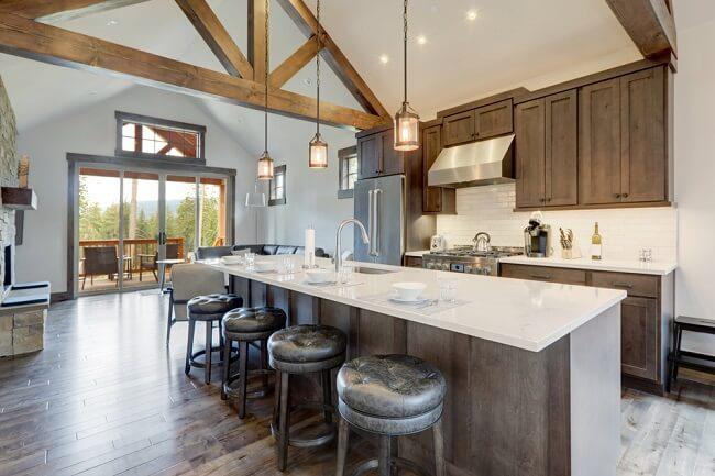 Minimalistische keuken hout