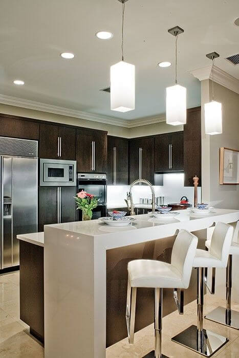 Keuken indeling kookeiland - Lounge en keuken in dezelfde kamer ...
