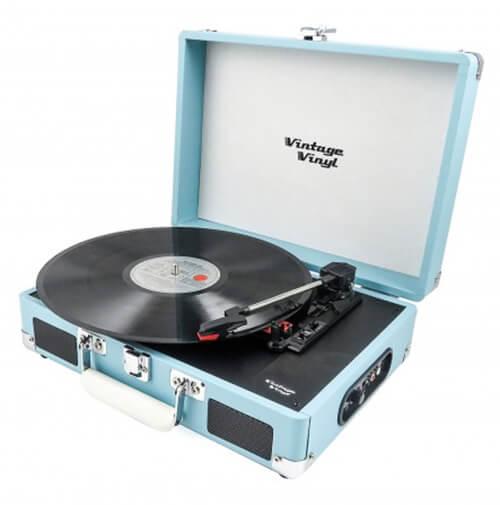 Platenspeler Vintage Vinyl Blauw