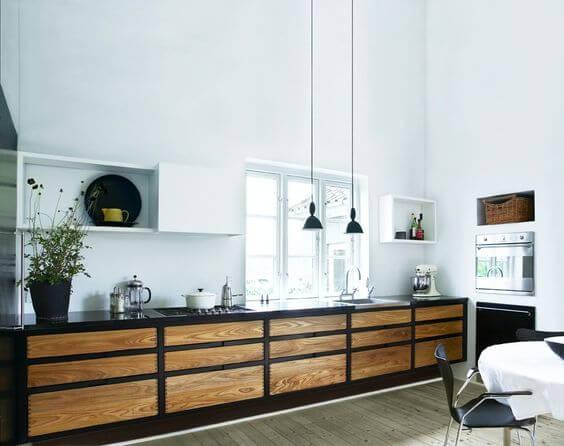 Scandinavische keuken in modern jasje