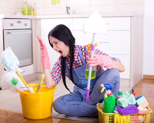schoonmaken is geen pretje