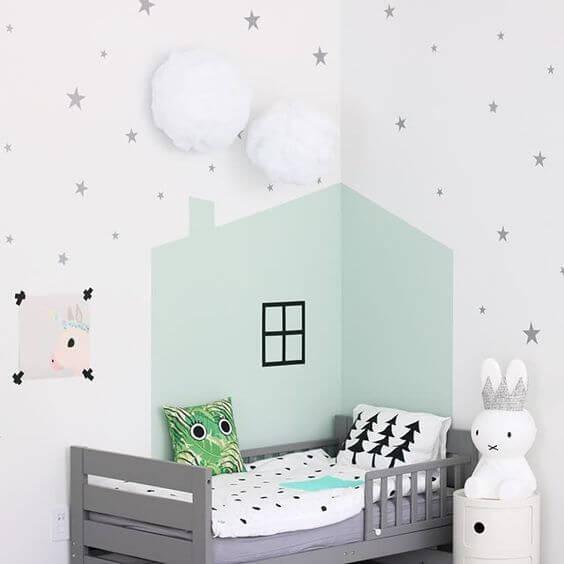Slaaphuisje met sterren eromheen