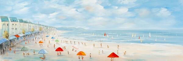 Strand kunstwerk voor kinderkamer