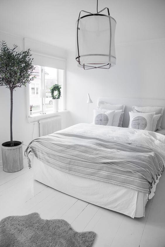 Witte slaapkamer 16 prachtige voorbeelden ik woon fijn - Grijze slaapkamer ...