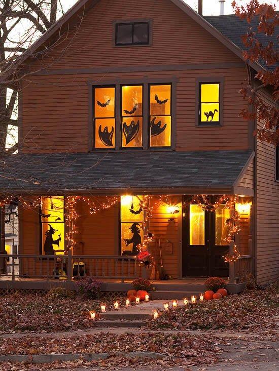 Halloween decoratie silhouet