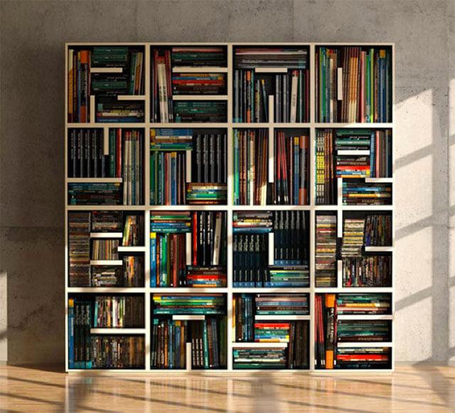Boekenkast met letters