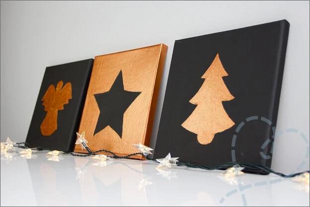 DIY kerst schilderijen via Nobody Else