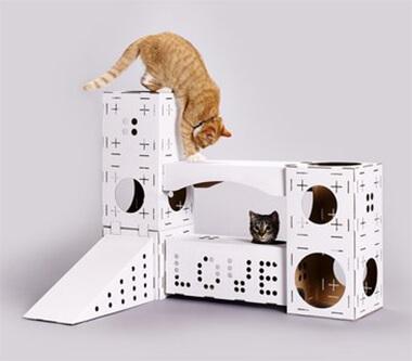 Katten speelhuis duurzaam